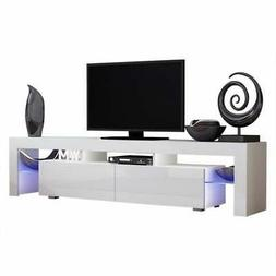 "Milano 200 Modern 79"" TV Stand with 16 Color LEDs"