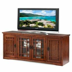"""Bowery Hill Mission 60"""" TV Stand in Medium Oak"""