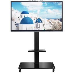 Moblile TV Cart Stand on Wheels for 37 40 47 50 55 60 65 inc