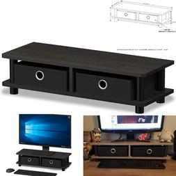 Modern Coffee TV Stand Table Small Wood End Monitor Living R