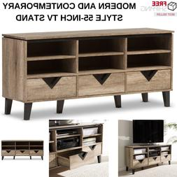 Modern Style TV Stand With 3 Drawers With 6 Open Shelves Woo
