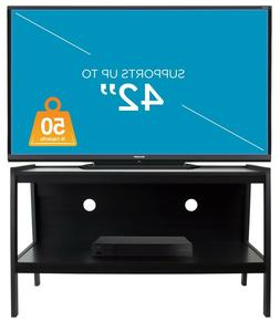 Mount-It! Wood TV Stand and Storage Console For 32-42 Inch F