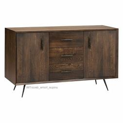 New Rustic Modern Wood Credenza Dining Sideboard Buffet TV C