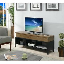 Convenience Concepts Newport Driftwood and Black 60-Inch TV