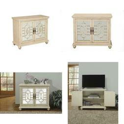 Orleans Antique White White Tv Cabinet Fits Tvs Up To 42 In.