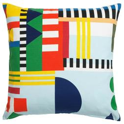 """Ikea OVERALLT Pillow Cushion Cover 20"""" x 20"""" Abstract Multic"""