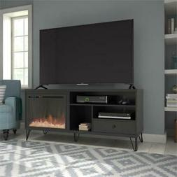 """Ameriwood Home Owen Fireplace TV Stand up to 65"""" in Black"""
