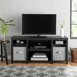 Mainstays Parsons Cubby TV Stand, For TVs Up To 50, Black