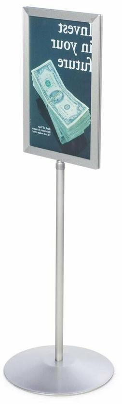 Displays2go Pedestal Sign Holder Stand with Telescoping Post