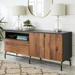 """Rustic Credenza 60"""" TV Stand Multi-Functional Console Sidebo"""