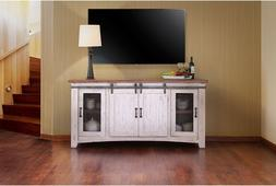 Rustic Solid Wood 70 inch wide TV stand Media Center / Sideb