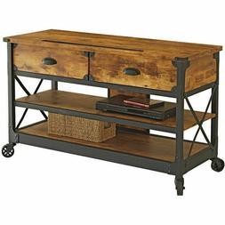 Rustic TV Stand Farmhouse Country Industrial Shabby Chic Vin