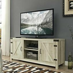 Rustic TV Stand Modern Farmhouse Country Shabby Chic White B