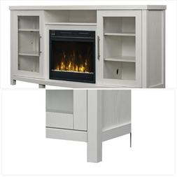 """Sea Meadow White TV Stand for TVs up to 60"""" with Electric Fi"""