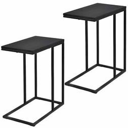 Set of 2 Coffee Tray Sofa End Table Ottoman Couch Console St