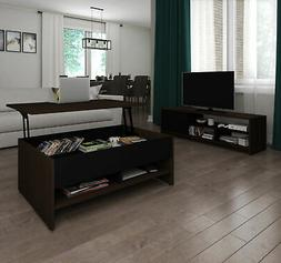Bestar Small Space 2-Piece Lift-Top Storage Coffee Table and