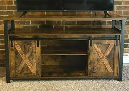 Industrial Style TV Unit Stand Vintage Rustic Sideboard Stor