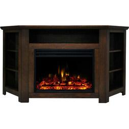 Stratford Electric Fireplace Heater with 56-In. Walnut Corne