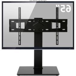 Swivel Table top TV Stand Base with Mount for 32-65 inch Fla
