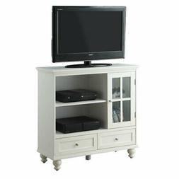 Convenience Concepts Tahoe Highboy TV Stand in White