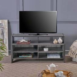 Thaddeus Farmhouse Rustic Faux Wood TV Stand by Christopher