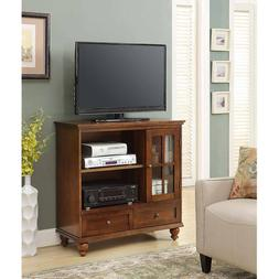 Transitional Highboy TV Stand Storage Cabinet Media Console