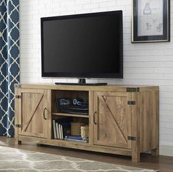 TV Console Media Stand Up to 65 Inch Barnwood Barn Wood Farm