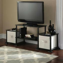 """TV Media Stand Cube Storage up to 40"""" COLORS Shelves Easy As"""