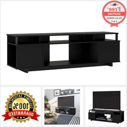 TV Media Stand For TVs Up To 65 Inch Black Console Entertain