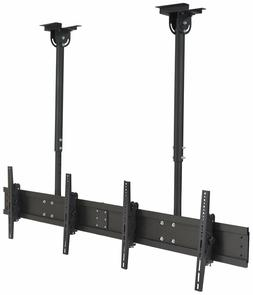 Displays2go TV Mount with Ceiling Suspension, Steel, Aluminu