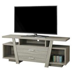 """Indigo Home TV Stand, 60""""L, Taupe with 2 Storage Drawers - I"""