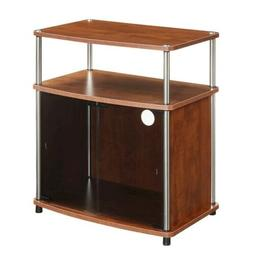 Convenience Concepts TV Stand with Black Glass Cabinet, Cher
