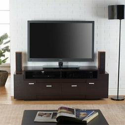 """BOWERY HILL 60"""" TV Stand in Cappuccino"""