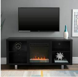 TV Stand Electric Fireplace Modern Media Home Entertainment