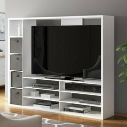 TV Stand Entertainment Center TVs Up To 55 Inch Storage Shel