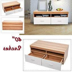 TV Stand Entertainment Center Unit With Shelves And Drawers