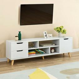 TV Stand Entertainment Center - Wood Media Console Cabinet S