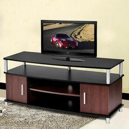 TV Stand Entertainment Media Center Console Storage Wood Cab
