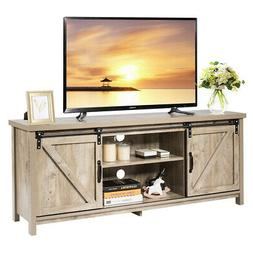 TV Stand Media Center Console Cabinet Sliding Barn Door for