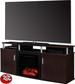 TV Stand Media Fireplace Electric Heater Cherry 70 Inches TV