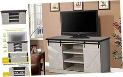 TV Stand, Storage Cabinets with Doors and Shelves Entertainm