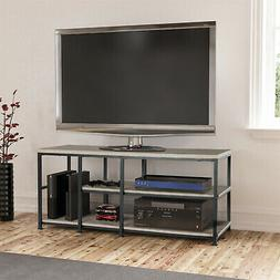 Mainstays TV Stand up to 55in Rustic Oak Shelf Bookcase DVD