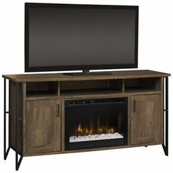 """Dimplex Tyson 64"""" Fireplace TV Stand in Farmhouse Chestnut"""