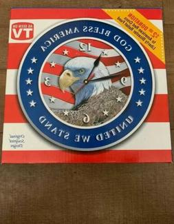 """United We Stand"" ""God Bless America"" Bald Eagle Wal"