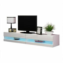 "Vigo 180 Wall Mounted Floating 71"" TV Stand with 16 Color"