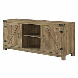 "Delacora WE-BD58BDSD  58"" Wide Farmhouse TV Stand with Barn"