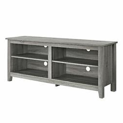 "Delacora WE-BD58CSP  58"" Wide Wood TV Stand - Driftwood"