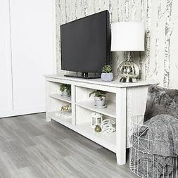 WHITE Style TV STAND Fits 60-Inch TV Entertainment Console M