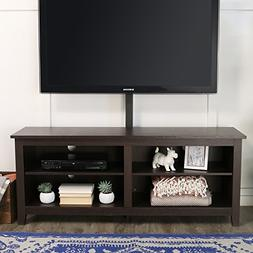 "Wood Corner TV Stand with Mount for TVs up to 60"", Multiple"