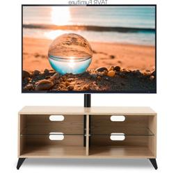 Wood Media TV Stand Console with Swivel Mount for 32-65 inch